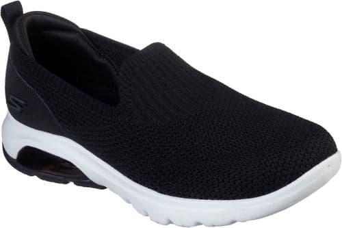 Skechers Gowalk Air Ladies Sports Black / White